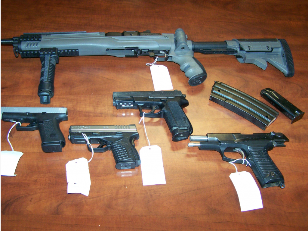 Weapons found after pawn shop burglary