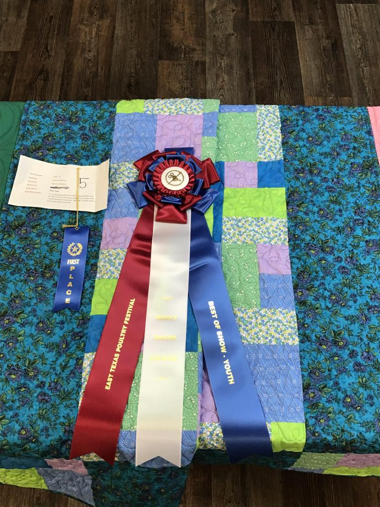 Fabric art is the focus of the Poultry Fest Quilt Show.