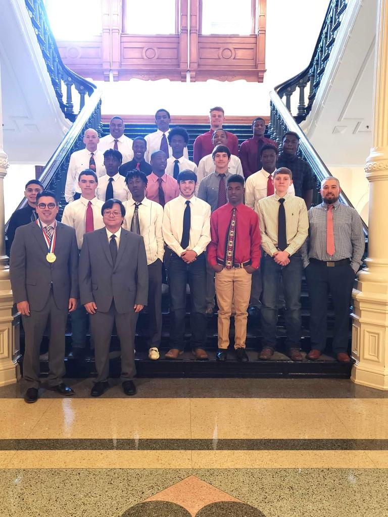 Team members got to meet with State Rep. Chris Paddy and have a photo taken in the Texas State Capitol.