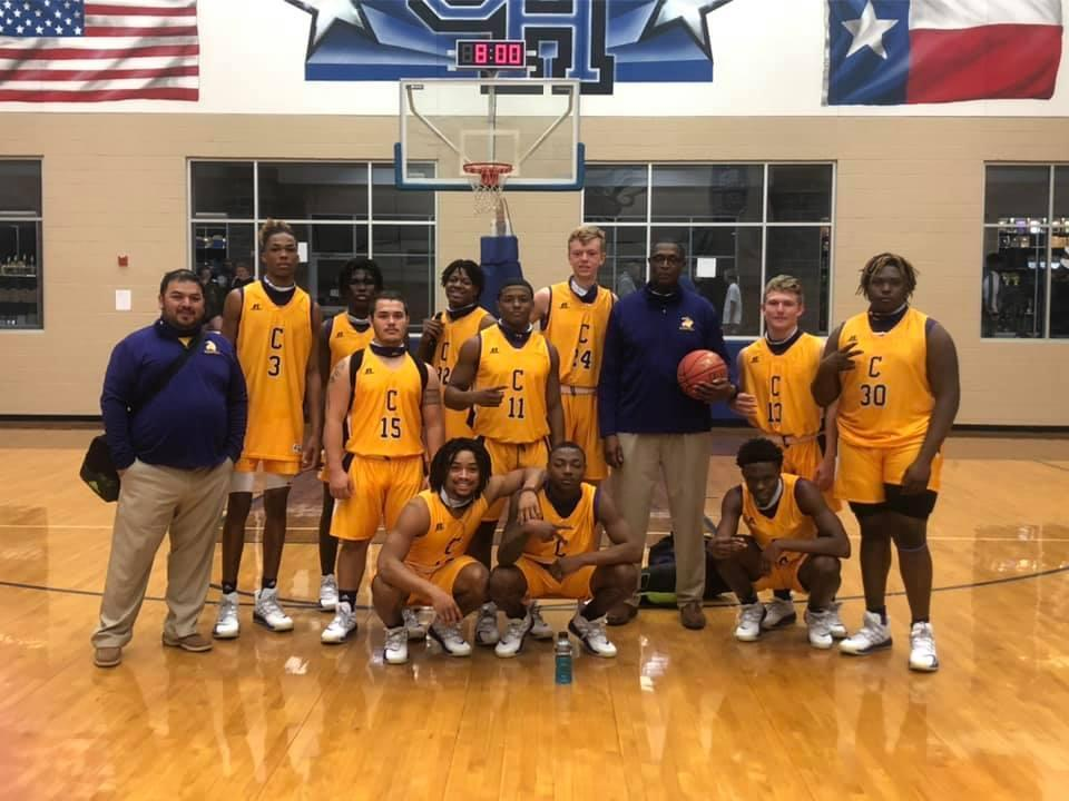 The 2020 Roughriders boys team won the Dec. 8 game at Central Heights to give their coach his 500th career win. Courtesy photo