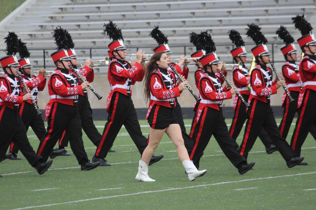 The Shelbyville High School marching band