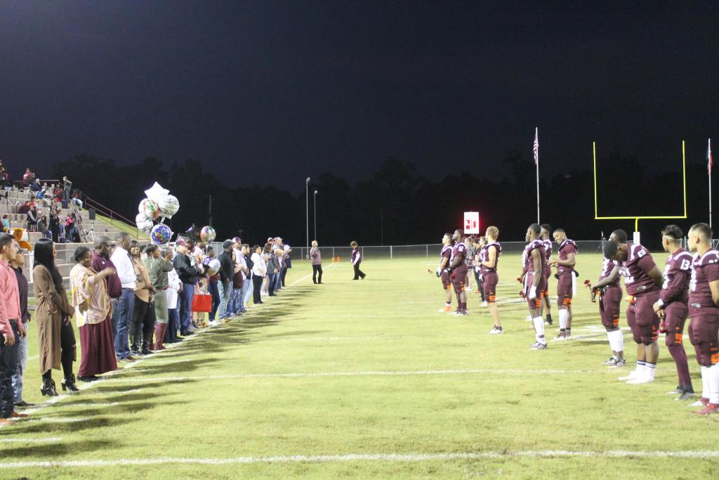 Tenaha Tigers at Senior Night.