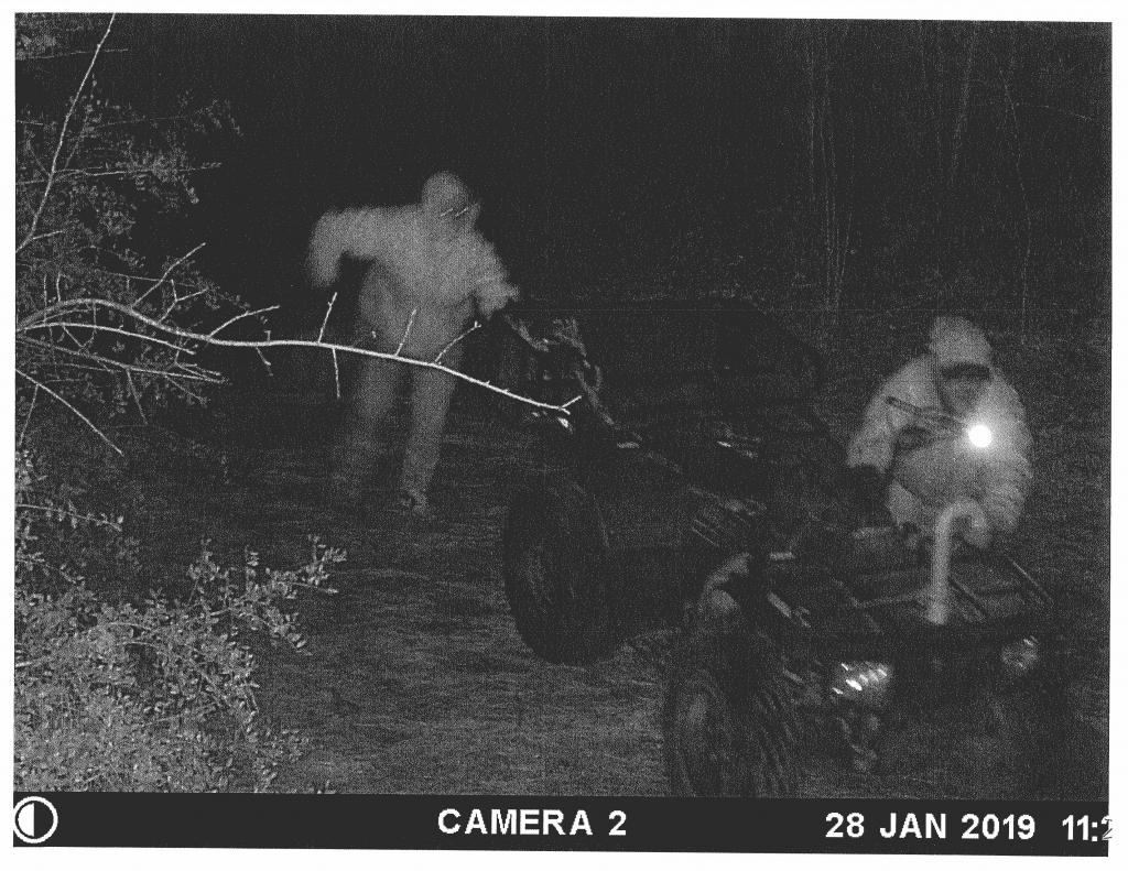 The images are off a game camera. They are very distorted but it is all officers have to go off of.