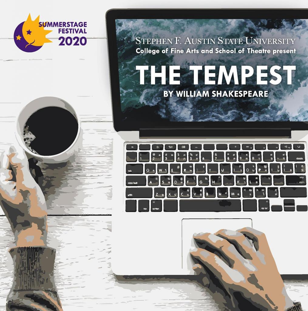 """The SFA School of Theatre will present William Shakespeare's """"The Tempest"""" virtually in a live stream June 30 through July 2 and in a recorded version July 3 through 5. Access purchase is required for viewing:boxoffice.sfasu.edu."""