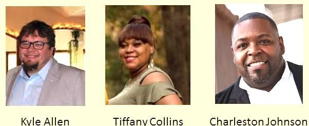 Tiffany Collins, center, led the voting in Timpson city election Saturday with 86 votes