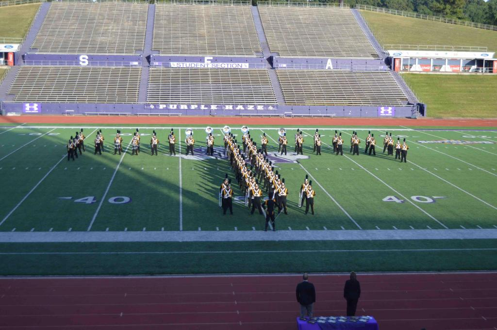 "TImpson High School forms its ""T"" formation"