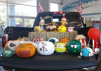 Bring your pumpkin to Wright Chrysler Dodge Jeep